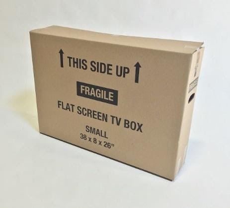 TV Box Small (up to 43 in) with Foam Inserts Image